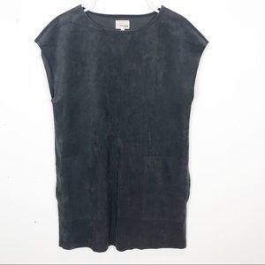 Aritzia | Wilfred | Grey Suede Dress Front Pockets